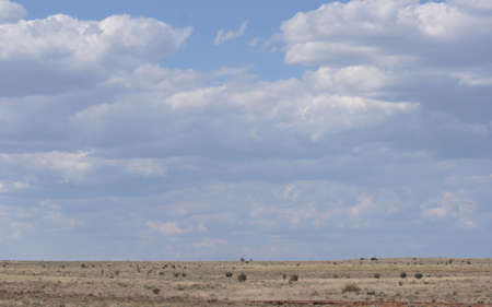 great plains: A scenic view of the great plains with clouds. Stock Photo