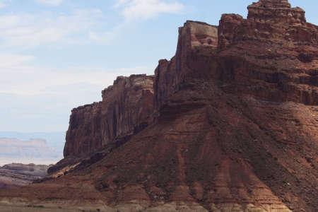 A mesa in the desert of Utah, United States. photo
