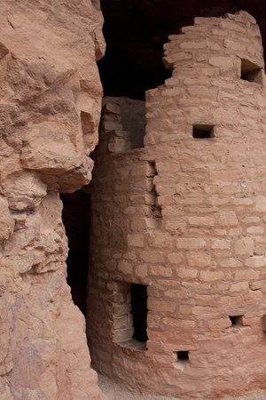 A portion of an Indian cliff dwelling. photo