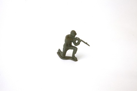 A toy soldier, isolated. photo