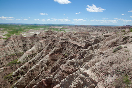 The badlands of South Dakota. photo