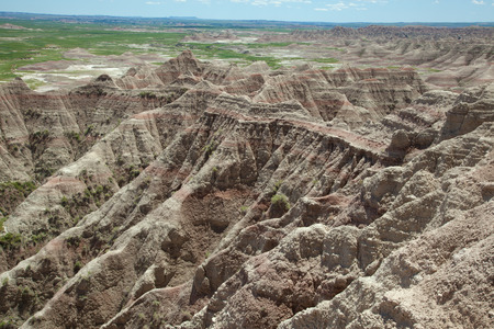 south dakota: Le Badlands del South Dakota. Archivio Fotografico