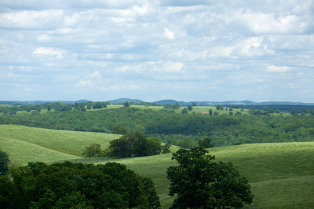 The rolling countryside of Ozark County Missouri.