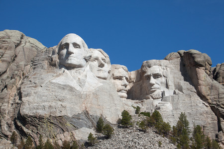 A view of Mount Rushmore in South Dakota. photo