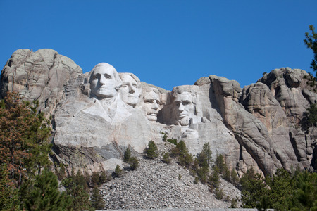 mount rushmore: A  view of Mount Rushmore in South Dakota. Stock Photo
