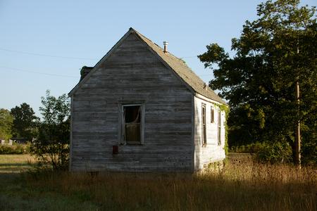 run down: An old run down building.