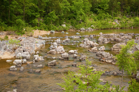 ins: A view of the Black River at Johnson Shut Ins. Stock Photo