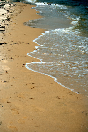 ocean waves: Waves from the ocean on the beach. Stock Photo