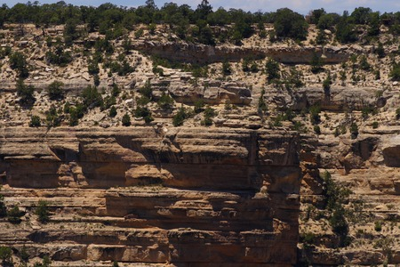 cliff face: A cliff face at the Grand Canyon. Stock Photo