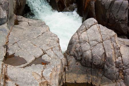 boulders: Two large boulders at Johnson Shut Ins State Park, Missouri.