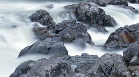 ins: Waterfall at Johnson Shut Ins state park in Missouri.
