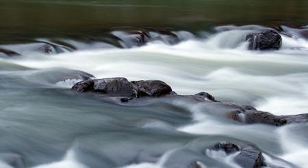 ins: The Black River flowing through Johnson Shut Ins State Park in Missouri.