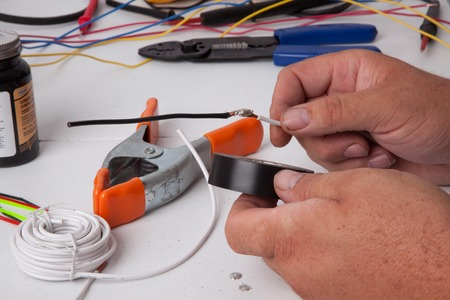 cable cutter: A bunch of tools used for soldering wires.