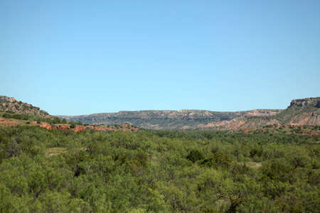 duro: A view of Palo Duro Canyon in Texas.