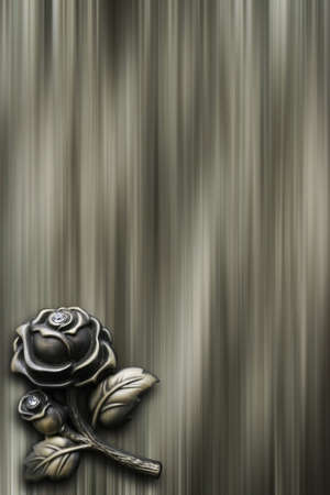 bronzy: abstract background with bronze rose