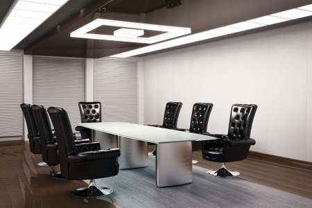 conference room inter 3d render Stock Photo - 5947982