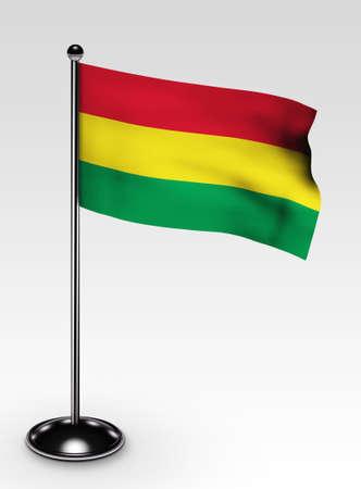 bandera de bolivia: Bandera de Bolivia peque�a con procesamiento 3d de trazado de recorte