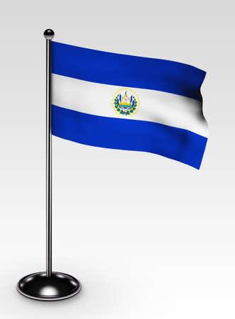 bandera de el salvador: El Salvador Banderita con procesamiento 3d de trazado de recorte