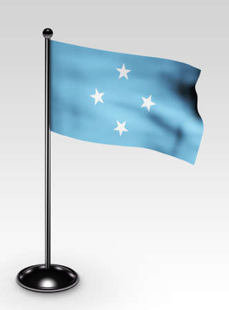 micronesia: Small Micronesia flag with clipping path 3d render