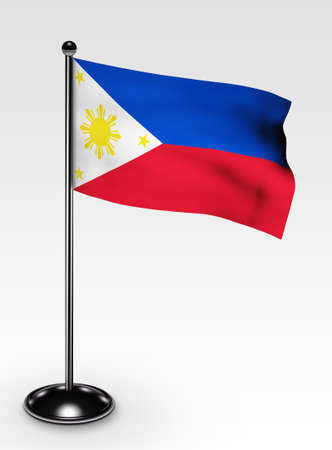 flagpoles: Small Philippines flag with 3d render