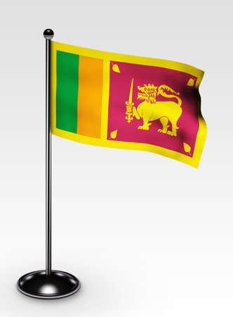 lanka: Small Sri Lanka flag with 3d render