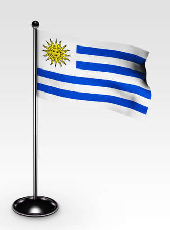 uruguay flag: Small Uruguay flag with 3d render