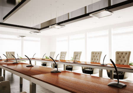conference room inter 3d render Stock Photo - 6137173