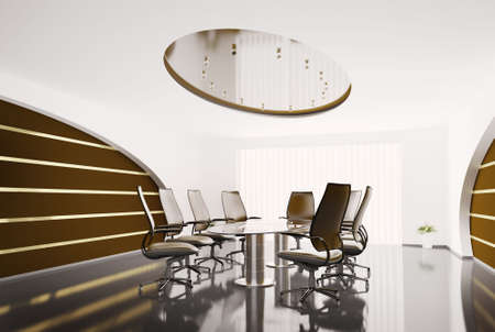 conference room with glass table Stock Photo - 6553468