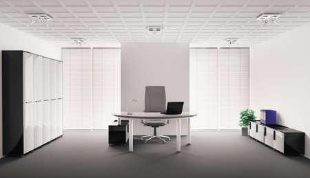 Modern office interior 3d render Stock Photo - 6744756