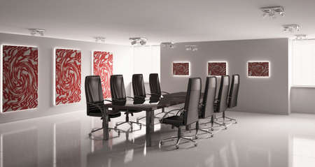 conference room with eight armchairs interior 3d Stock Photo - 6791523