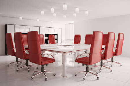 conference room with red armchairs interior 3d Stock Photo - 6791518