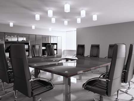 conference room with black furniture interior 3d Stock Photo - 6791519