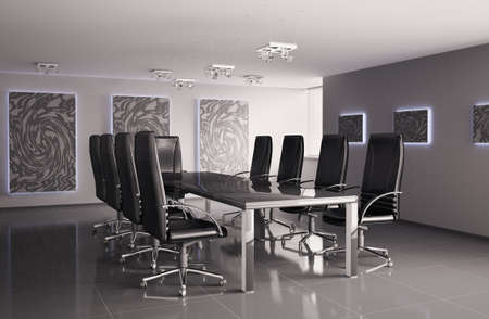 conference room interior 3d render Stock Photo - 6791524