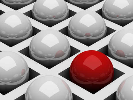 Abstract background with chrome white and red balls photo