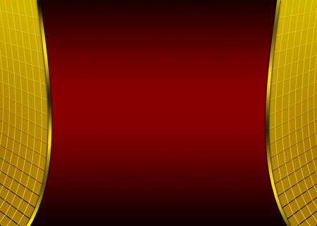 Abstract red black golden background photo