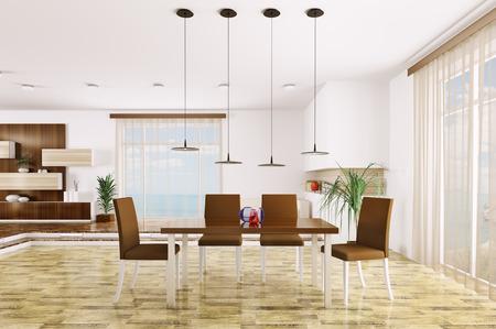 Interior of modern living room 3d render Stock Photo - 23035747