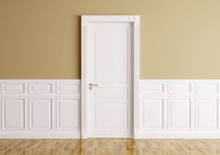 entrance door: Interior of a room with classic door