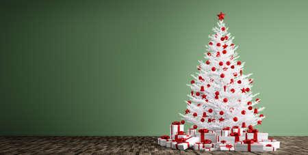 arbol navidad blanco interior de un cuarto con el rbol de navidad blanco bolas