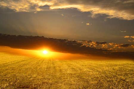 La puesta de sol. Abstracci�n