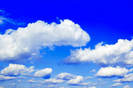 The beautiful white clouds on background blue sky. photo