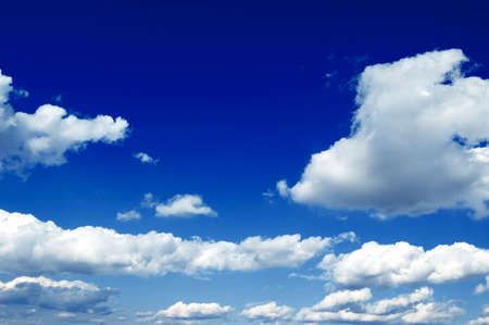 The blue sky and white clouds photo