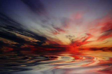 reflected: The sunset. The abstraction.