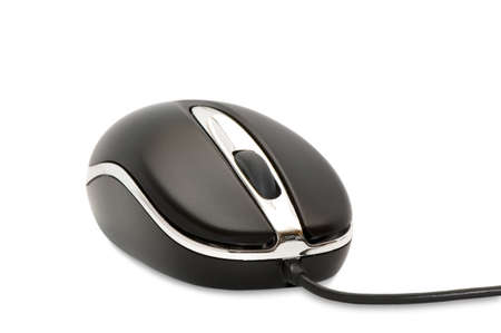 The computer mouse on a white background. Stock Photo