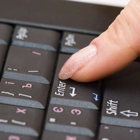 minicomputer: keyboard & finger