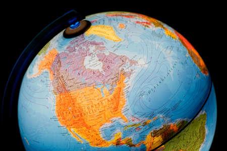 terrestrial globe: terrestrial globe on black background