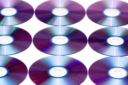 Computer disks isolated on a white background. Stock Photo