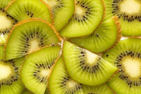 Antecedentes de rodajas de kiwi.