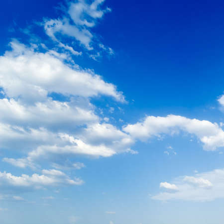 puffy: The clouds on the sky. Stock Photo