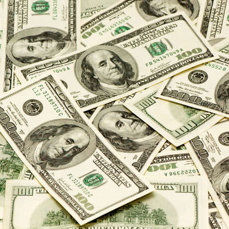 American dollars on a white background Stock Photo - 2327374