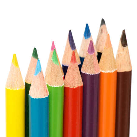 Color pencils on a white background. Reklamní fotografie - 2400322